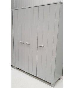 Garderobekast betongrijs 3 deurs