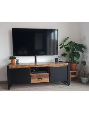 TV meubel Bas mango met staal medium