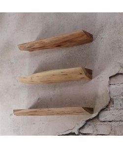 Wandschap edge 60cm set/3 / Massief acacia naturel