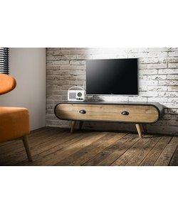 TV-meubel Trunk Zwart