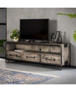 TV-meubel Rift Mango 3 lades open vak