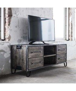 TV-meubel Rift is gemaakt van massief mangohout