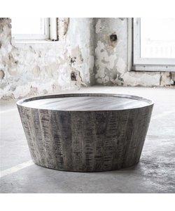 Salontafel Rift is gemaakt van massief mangohout Ø 80 cm