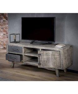 TV-meubel Rift - Massief mango leem antiek