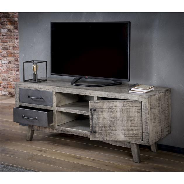 Spiksplinternieuw TV-meubel Rift - Massief mango leem antiek - Gratis thuisbezorgd OC-73