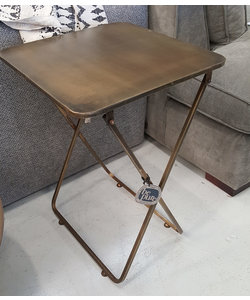 Sidetable Fold Away Antique brass
