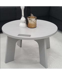 Ronde bijzettafel Ø 60 cm betongrijs met greep
