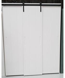 Garderobekast roldeur 3 deurs wit