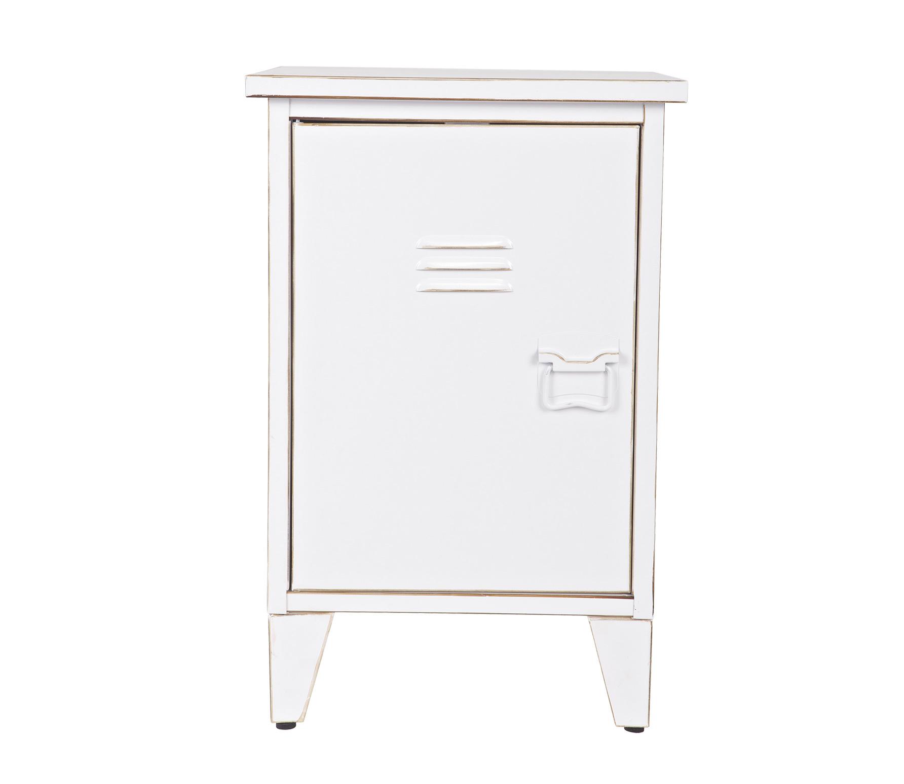 Uitgelezene Metalen nachtkastje Maxime locker wit linksdraaiend | Houten OU-62