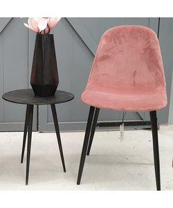 Eettafelstoel Mari roze velvet