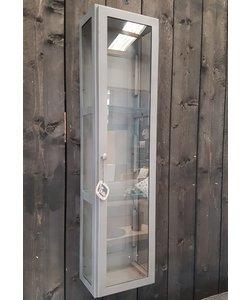 Vitrine hangkast XL metaal met glas