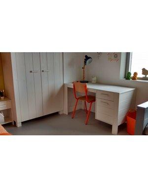 Bureau Wit met lade en deur