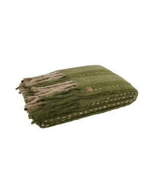 BePureHome Plaid Hug Mohair Groen