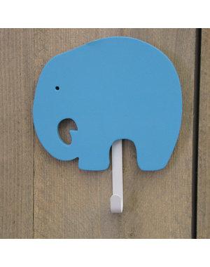 Kapstokje olifant 1-haak turquoise