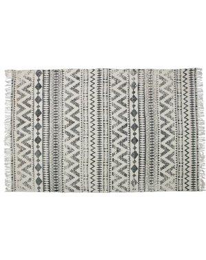 Vloerkleed Kreta zwart-ecru 160 x 240