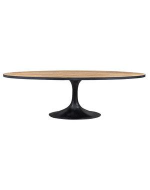 Richmond Interiors Eettafel Ramsey ovaal met ijzer frame * Showroommodel