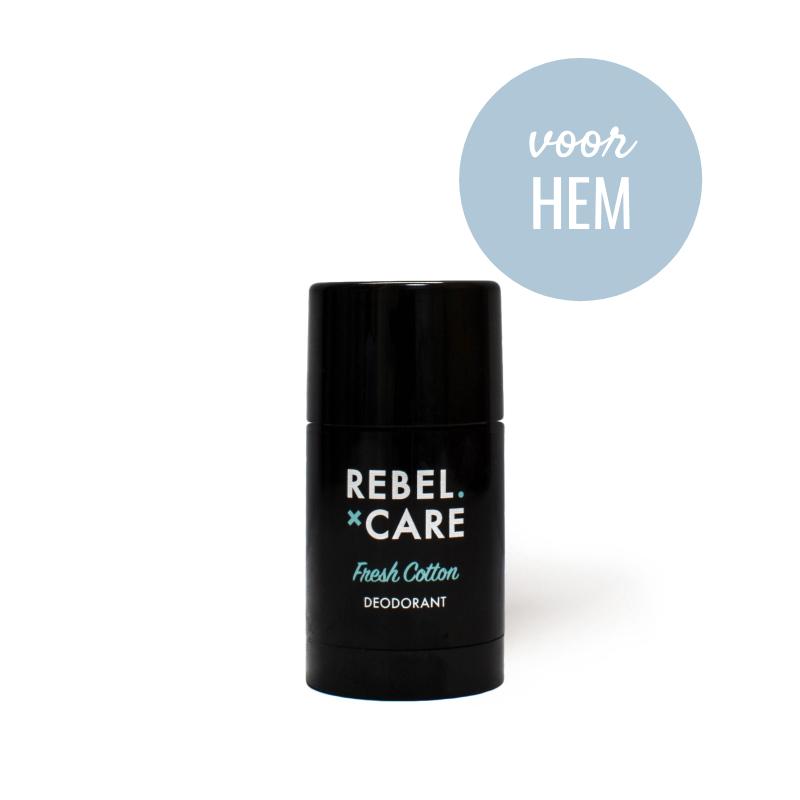 Deodorant Rebel Fresh Cotton - voor hem-1