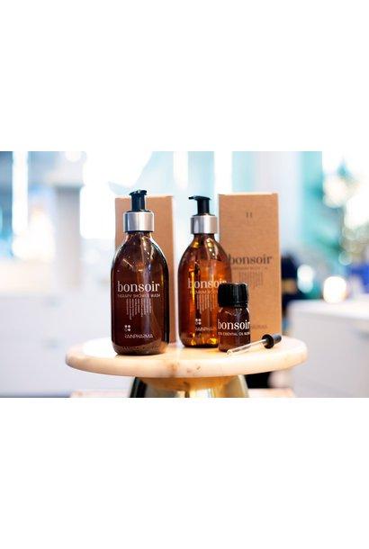 Bonsoir Shower Wash + Bonsoir Body Oil + Bonsoir Essential Oil