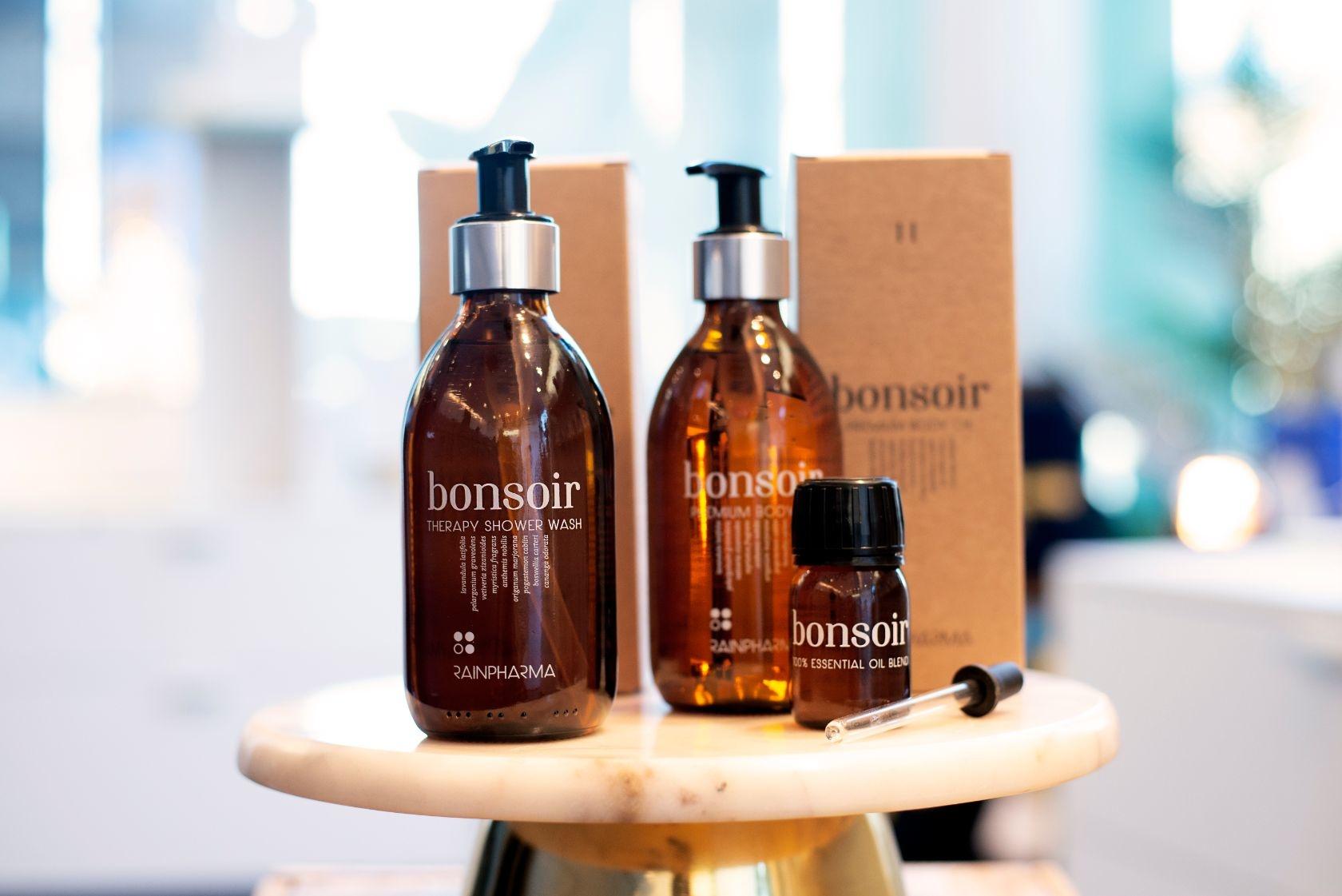 Bonsoir Shower Wash + Bonsoir Body Oil + Bonsoir Essential Oil-1