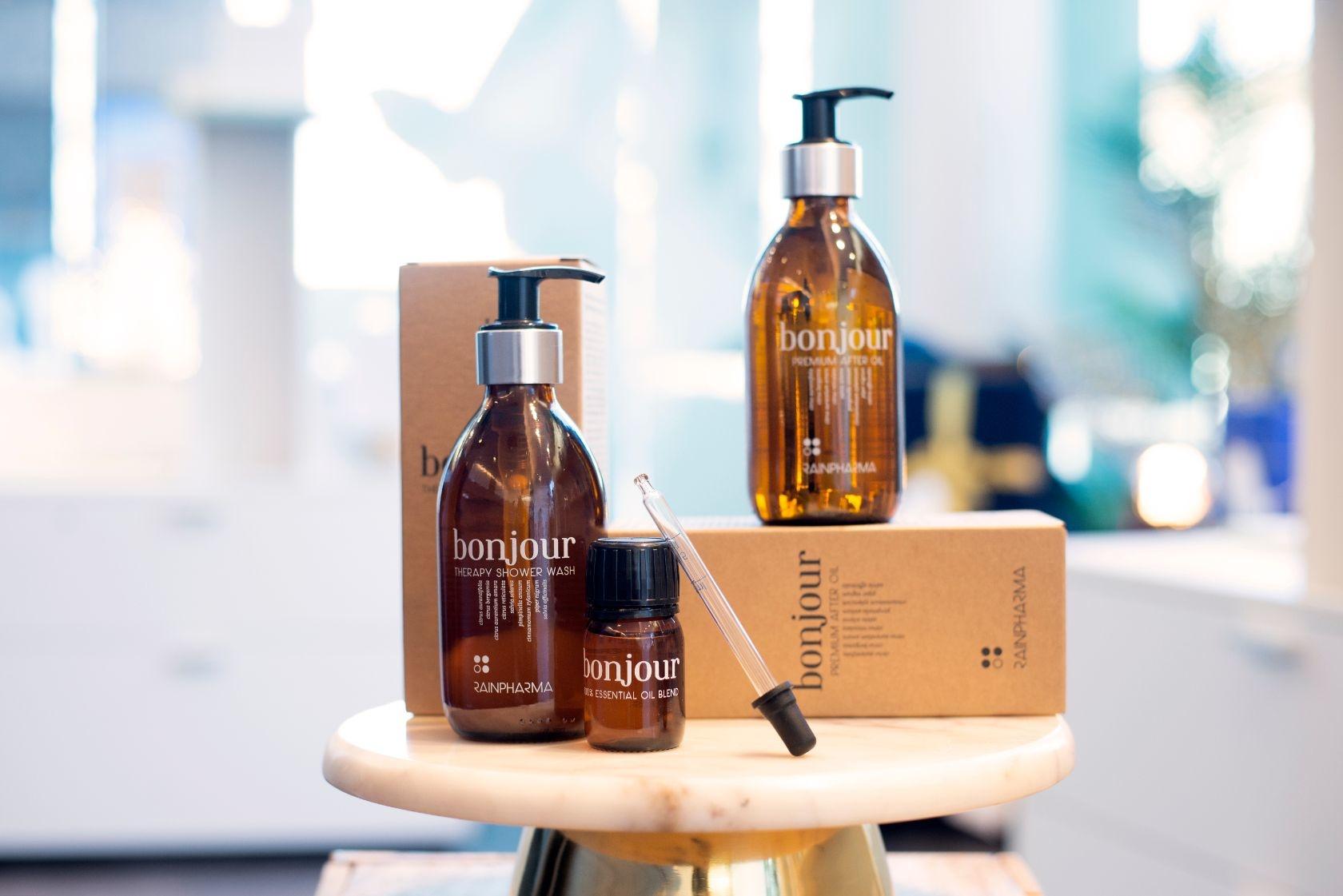 Bonjour Shower Wash + Bonjour After Oil + Bonjour Essentail Oil-1