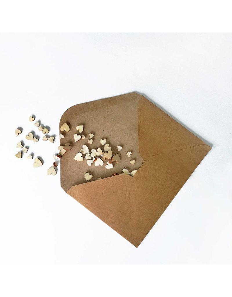 Bruidsknaller Houten hartjes voor de decoratie van je bruiloft - 100 stuks per verpakking