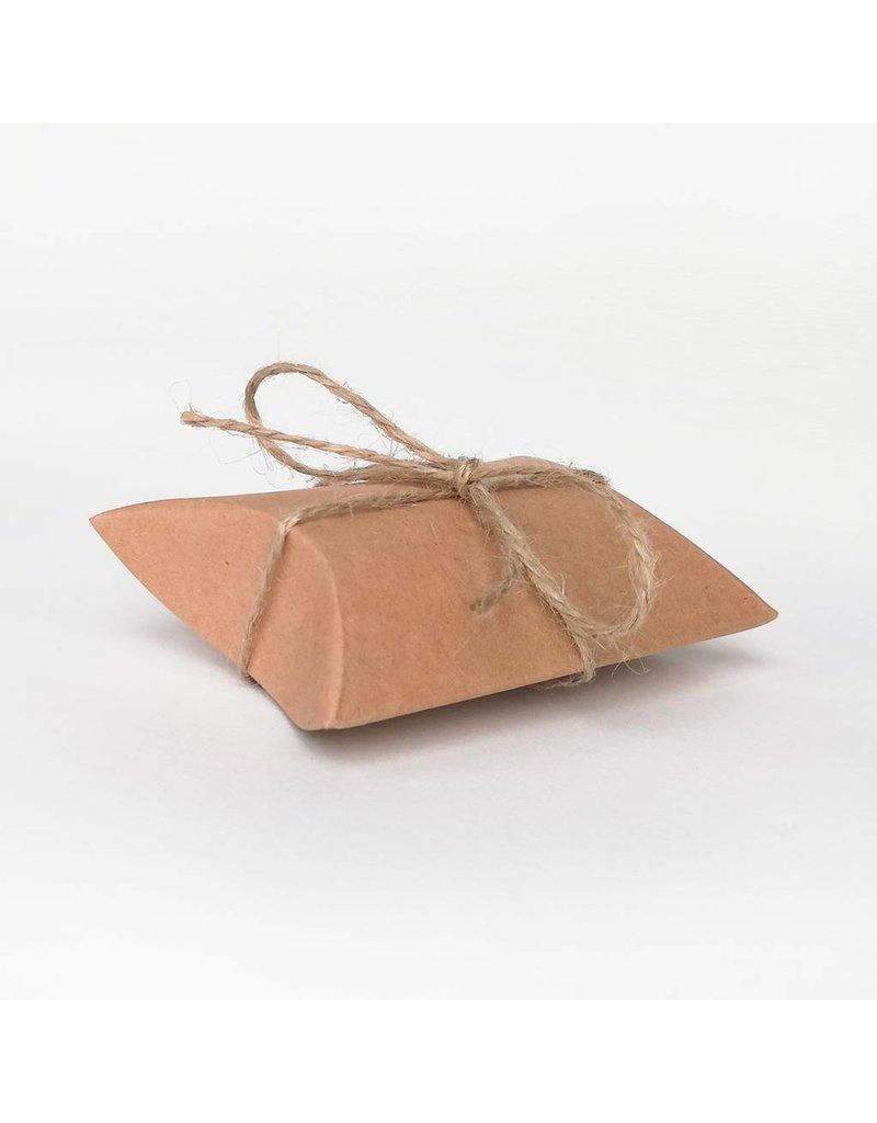 Bruidsknaller Kraftpapier geschenkdoosje/gift box  inclusief touwtjes - per 10 stuks