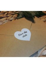 Bruidsknaller Leuke Save The Date stickers voor op jullie uitnodigingen - per 10 stuks
