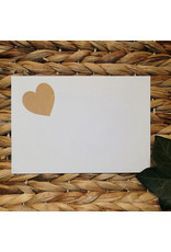 Bruidsknaller Kraftpapier stickers in hartvorm - per 10 stuks