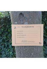 Bruidsknaller Kraftpapier kaart met huwelijksadvies