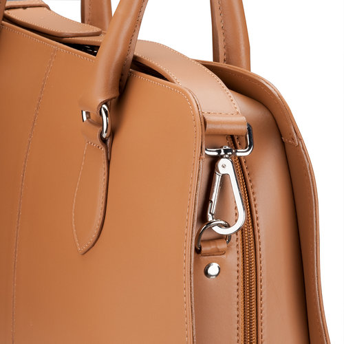 Su.B 13 Inch Laptop Bag without Trolley Strap for Women - Leather Briefcase, Handbag, Messenger Bag - Brown