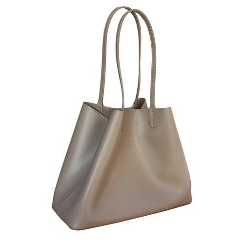 Su.B Leder Shopper für Damen - Umhängetasche, Einkaufstasche - Handtasche - Beige