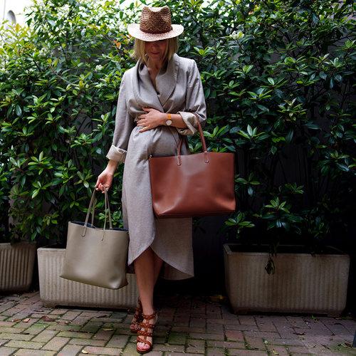 Su.B Damen Luxus Shopper Tragetasche Schultertasche - Taupe
