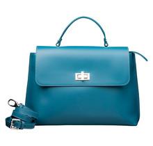 Leder Handtasche für Damen - Umhängetasche - mit Schulterriemen - Türkis