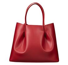Leder Shopper für Damen Klein - Umhängetasche, Einkaufstasche - Handtasche - Rot