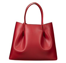 Luxurious Leather tote for women - shoulder bag, shopping bag - shopper - handbag  - Red