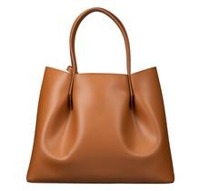 Leder Shopper für Damen Klein - Umhängetasche, Einkaufstasche - Handtasche - Braun