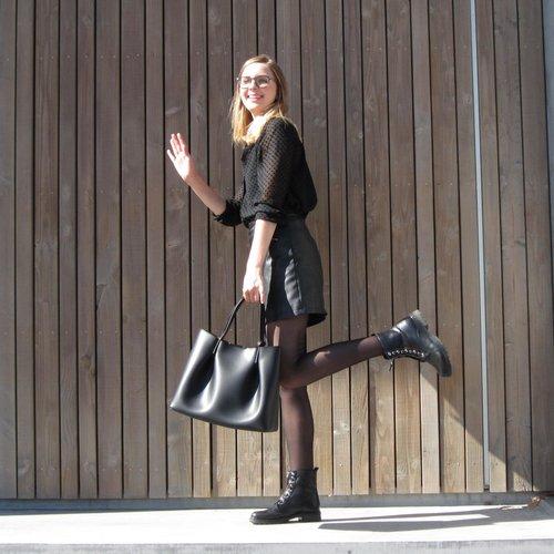Su.B Dames Luxe Shopper | Draagtas Schoudertas | Handtas | Splitleer | Made in Italy | Zwart