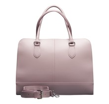 13,3 Zoll Laptoptasche Fuer Damen - Spaltleder - Designer Aktentasche, Handtasche, Schultertasche ohne Trolleyband - Made in Italy - Helles Lila