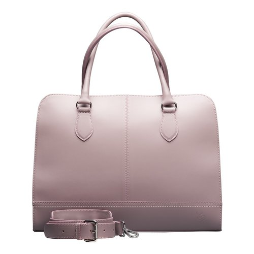 Su.B 13.3 Inch Laptop Bag without Trolley Strap for Women - SaffianoLeather - Briefcase, Handbag, Messenger Bag - Made in Italy - Bright Purple