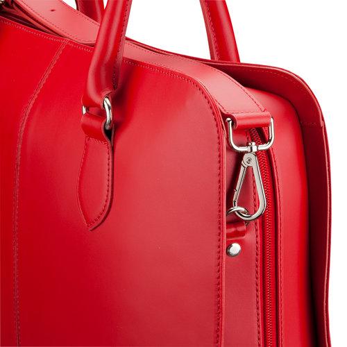 Su.B Shoulder Strap for Women 13.3 and 15.6 inch Laptop Bag - Messenger Bag - Split Leather - Wine Red