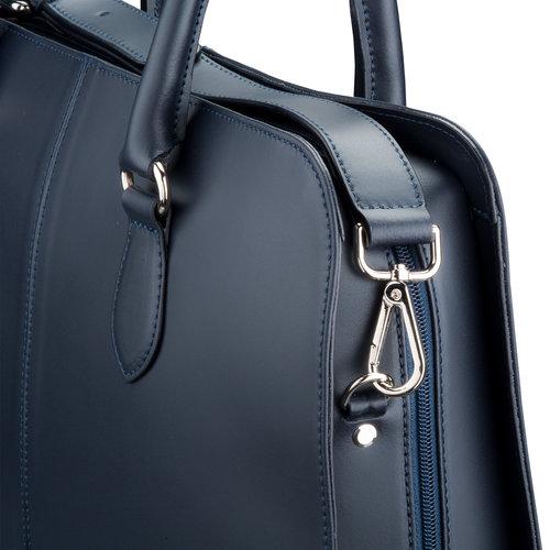 Su.B Schultergurt fuer 13.3 und 15.6 inch zoll  Laptoptasche - Spaltleder - Dunkel Blau
