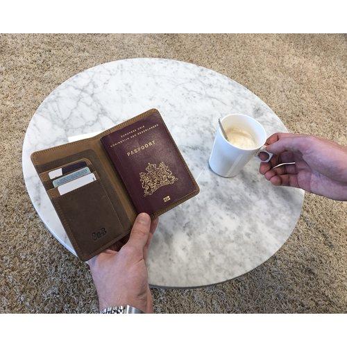 Su.B Leder Reisepasshuelle Reisegeldboerse - Ticket Kartenetui mit RFID Schutz - Braun
