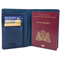 Designer RFID Blocking Passport Cover Luxurious Leather Holder - Travel Ticket or Cards Wallet for Men and Women - Turquoise