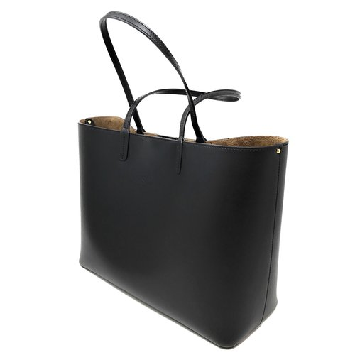 Su.B Women Luxe Shopper - Large Leather Tote Bag - Handbag -Black