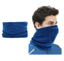 2 pieces Multi-functional Polyester Cowl Neck Scarf  - Bandana - Balaclava - Ideal for Sports Cycling Motorbike - Unisex - Blue
