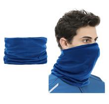 2 Stuks Multifunctioneel Polyester Col Colsjaal - Bivakmuts Balaclava Bandana  Ideaal voor  Sport  Fietsen Motor  - Unisex - Blauw