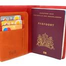 Venlo Reisepasshülle Rot & Orange