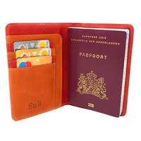 Meppel Passport Wallet Red & Orange