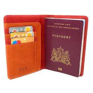 Su.B Meppel Passport Wallet Red & Orange