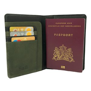 Su.B Meppel Passport Wallet Black & Olive